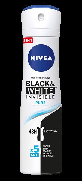Deo Nivea Women Invisible Pure B&W 200ml