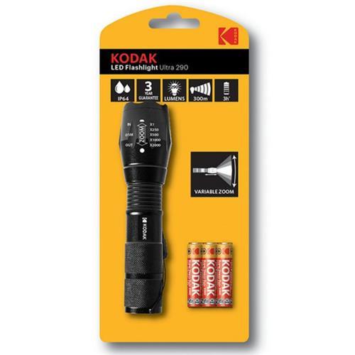 Torche LED Flashlight Ultra 290 LM + 3 R03 Kodak