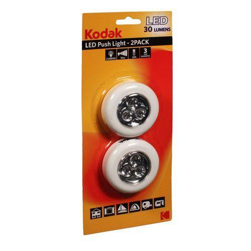 Torche LED Kodak Push Light - 2 Pack 30 LM