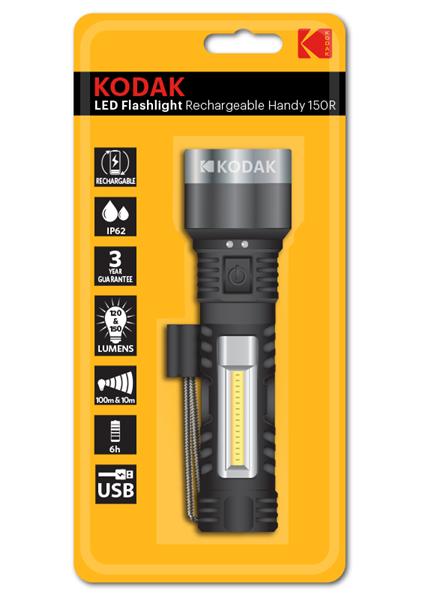Torche Kodak LED Flashlight Rechargeable Handy 120&150 LM