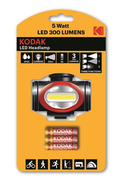 Torche LED Head Lampe 300LM + 3 R03 Kodak