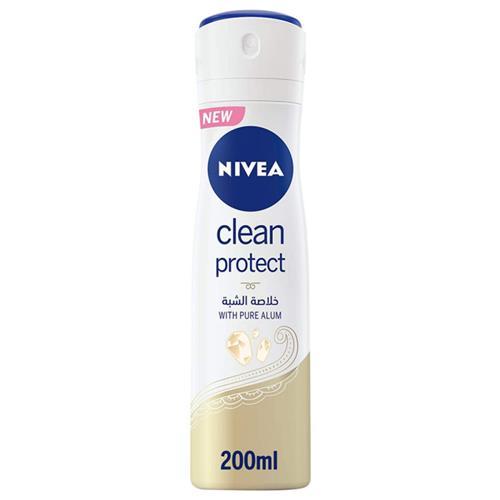 Nivea - déodorant anti-transpirant femme clean protect -200ml